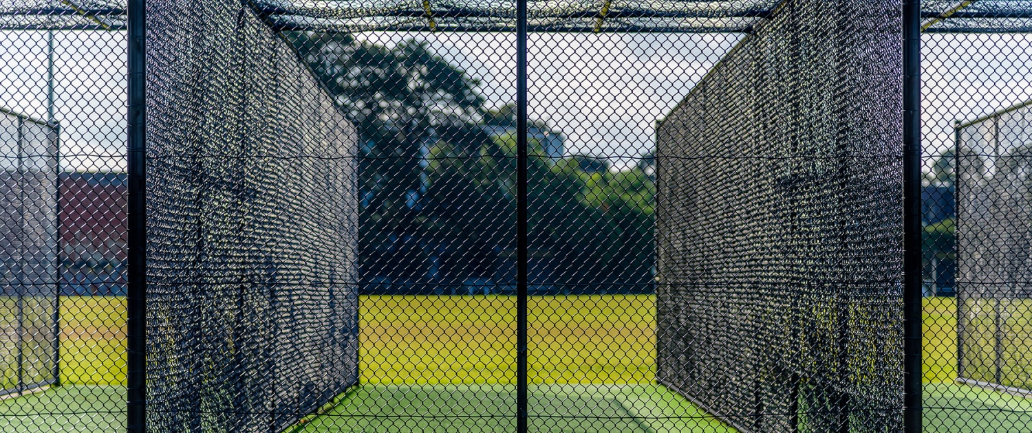 Fencerite cricket net fencing on a cricket field