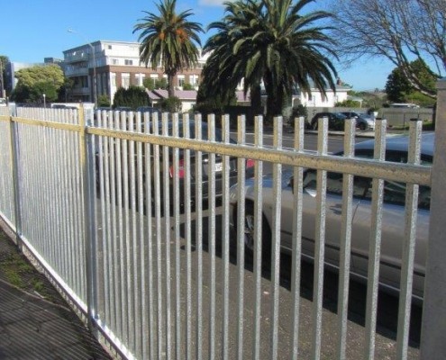 Image showing steel security fencing surrounding a school property