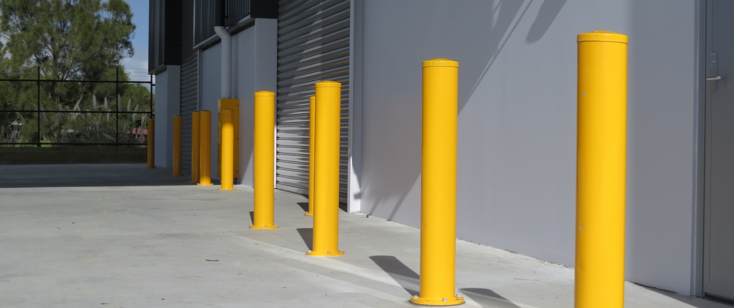 Image of bollards in a commercial property