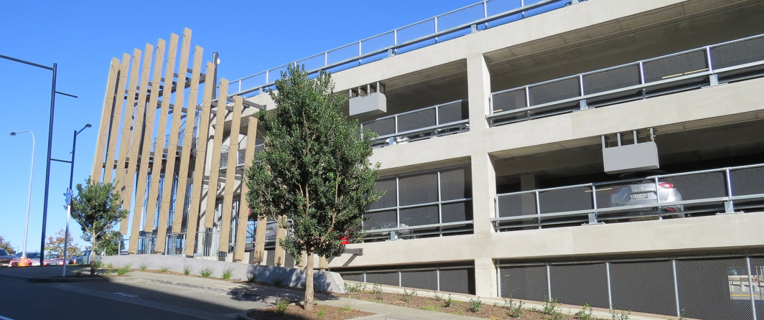 Image showing a carpark building with balustrades installed by Fencerite