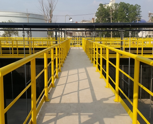 image of some yellow handrails