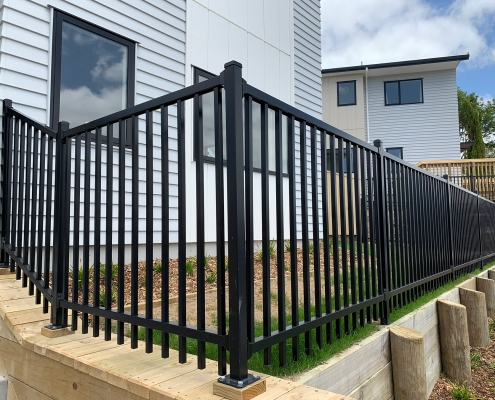 Image showing a Residential Aluminium Landscape Fencing surrounding a house