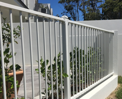 Image showing aluminium security fencing surrounding a residential property